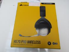 Corsair HS70 Pro Wireless Headset with 7.1 Surround Sound - Powers On but cannot test as only