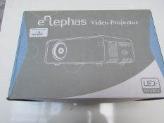 Elephas Portable Video Projector - Untested & Boxed - RRP £79.99