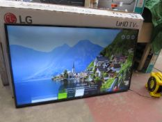 """LG 65"""" 4K UHD TV, tested working. No stand."""
