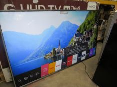 """LG 75"""" 4K UHD TV, tested working. No stand."""