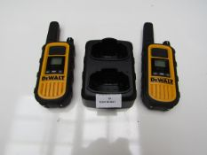 2x Dewalt DXPMR800 Heavy Duty Professional Walkie Talkies with Charging Case - These items do not