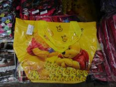 8X DISNEY WINNIE THE POOH CARRY ZIP BAG, NEW AND PACKAGE, SEE PICTURE