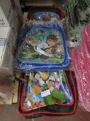3x various designed childrens bags - see image for desgins - looks unused.