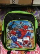 5X SPIDERMAN KIDS SMALL SHOULDER BAG (GREEN), SUITABLE FOR SCHOOL, NEW & PACKAGED.