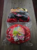 3X KIDS SPORTS SAFETY HELMET WITH KNEE AND ELBOW PADS, NEW AND PACKAGED.