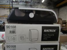 Katrin Hand Towel Dispenser, new and boxed.