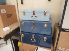 | 1X | MADE.COM SET OF 3 STORAGE CHESTS | LARGE CHEST HAS DENT ON THE BACK | RRP £159 |