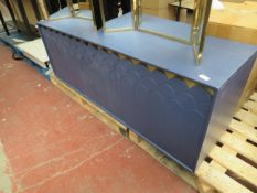 | 1X | SWOON BLUE CONNIE SIDEBOARD | HAS SOME MARKS AND SCUFFS AND MAY HAVE MINOR DAMAGE AND NO FEET