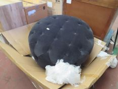 | 1X | MADE.COM HAMPTON LARGE ROUND POUFFE | NO MAJOR DAMAGE (PLEASE NOTE, THIS DOES NOT PROVIDE ANY