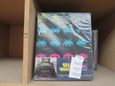 Space Invaders single duvet with pillowcase, new and packaged.