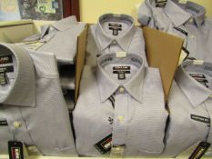 """30 X Kirkland Signature Custom Fit Shirts Long Sleeve Blue Check - Sizes Range From 15"""" to 17 Collar"""