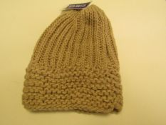 10 X Atlantis Beige Knitted Winter Hats All New With Tags