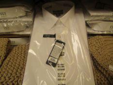"30 X Kirkland Signature Custom Fit Shirts Long Sleeve White - Sizes Range From 15"" to 17 Collar"