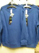 2 X 2 Blue Sweatshirts Aged 10/11 yrs All New