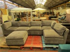 Costco 6 piece modular sofa set, NO MAJOR DAMAGE (PLEASE NOTE, THIS DOES NOT PROVIDE ANY WARRANTY OR
