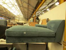   1X   MADE.COM VELVET CHAISE LOUNGER   PART 1 OF 2 BUT CAN BE USED AS A LOUNGER AND NO FEET  