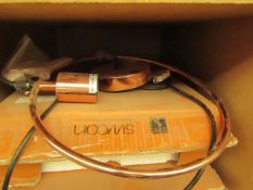   1X   SWOON MIDI PENDANT LIGHT IN COPPER   UNCHECKED AND BOXED - BULB NOT INCLUDED   RRP £69  