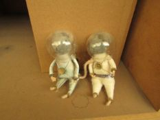   1X   BOX CONTAINING COX AND COX FELT SPACE MICE   APPROX 20 IN EACH BOX   NEW & PACKAGED  
