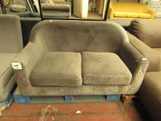   1X   MADE.COM VELVET TUBBY CHAIR   NO MAJOR DAMAGE (PLEASE NOTE, THIS DOES NOT PROVIDE ANY