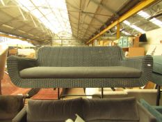   1X   MADE.COM GREY RATTAN SOFA WITH CUSHION   NO MAJOR DAMAGE (PLEASE NOTE, THIS DOES NOT