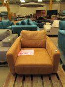 1 x Made.com Jarrod Armchair Outback Tan Leather RRP £999 SKU MAD-SOFJRD026BRO-UK TOTAL RRP £999