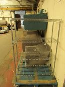 Trinity 4 tier shelf unit, NO MAJOR DAMAGE (PLEASE NOTE, THIS DOES NOT PROVIDE ANY WARRANTY OR