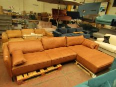   1X   MADE.COM LEATHER CORNER SOFA   NO MAJOR DAMAGE (PLEASE NOTE, THIS DOES NOT PROVIDE ANY