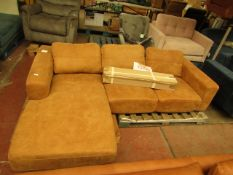   1X   MADE.COM LEATHER L-SHAPE SOFA   NO MAJOR DAMAGE (PLEASE NOTE, THIS DOES NOT PROVIDE ANY