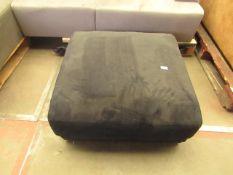 1 x Swoon Denver Easy Velvet Footstool in Black Dark RRP £599 SKU SWO-