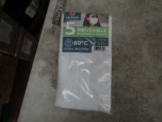 1x Box Containing 50 x Reusable Fabric face masks - New & Packaged.