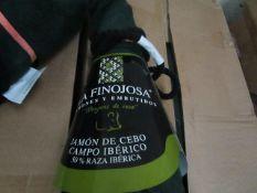 1 x La FINOJOSA 7.89kg Ham Joint Iberian cereal-fed ham, Jamones Y Embutidos Manjares De Pura Raza