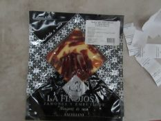 5x La Finojosa 100g packets Sliced Iberian cured ham in slices. BB 18.3.22 RRP £16.25 per packet