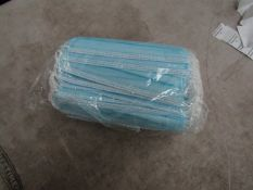4x Pack of 50x disposable face masks - New & Packaged.