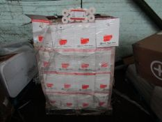 PALLET CONTAINING APPROX 47 BOXES OF 60 ROLLS OF TILL RECIEPTS,37.5MM X 70MM. NEW & PACKAGED