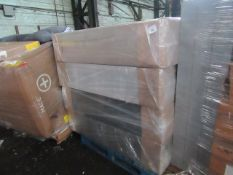 """2 X SUPERIOR DIVAN 150CM X 190CM PLAT TOP 13"""" SHEARWATER LIGHT. LOOKS NEW BUT UNCHECKED"""