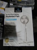 5x Pelonis 16 Inch Desk Fan | Unchecked & Boxed | RRP £30 | Total lot RRP £150 | Load Ref 23003080 |