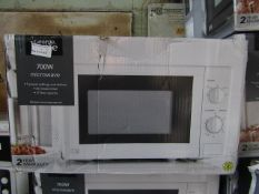 5x 700W Manual Microwaves | White | Unchecked & Boxed | RRP £40 | Total lot RRP £200 | Load Ref