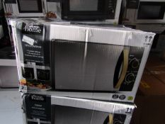 3x 700w Microwaves | Wood Effect & Black | Unchecked & Boxed | RRP £50 |Total lot RRP £150 | Load