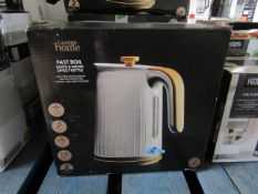 5x Fast Boil Wood Effect Kettles | Unchecked & Boxed | RRP £20 | Total lot RRP £100 | Load ref
