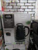 4x Black Textured Kettle | Unchecked & Boxed | RRP £18 | Total Lot RRP £90 | Load Ref 23003080|