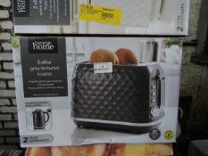 5x Textured 2 Slice Toasters | Colours May Vary | Unchecked & Boxed | RRP £18 | Total lot RRP £
