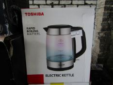 5x Toshiba Glass Electric Kettle | Unchecked & Boxed | RRP £28 | Total lot RRP £140 | Load Ref