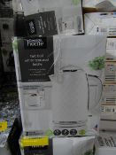 4x White Textured Kettle | Unchecked & Boxed | RRP £18 | Total Lot RRP £90 | Load Ref 23003080|