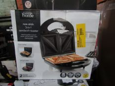 4x Non Stick 3 in 1 Sandwich Maker | Unchecked & Boxed | RRP £18 | Total lot RRP £72 | Load Ref