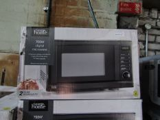 4x 700W Digital Microwaves | Black | Unchecked & Boxed | RRP £46 | Total lot RRP £184 | Load Ref