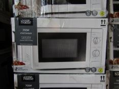 5x 700W Manual Microwaves | Silver | Unchecked & Boxed | RRP £40 | Total lot RRP £200 | Load Ref