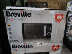 4x Breville Solo 17L 800W Microwaves | Unchecked & Boxed | RRP £59.99 | Total lot RRP £239.96 | Load