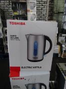 3x Toshiba Electrick Kettle | Unchecked & Boxed | RRP £20 | Total lot RRP £60 | Load ref 23003080 |