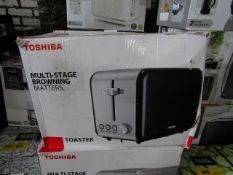 6x Toshiba 2 Slice Toasters | Colours May Vary | Unchecked & Boxed | RRP £25 | Total lot RRP £