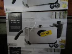 3x Stainless Steel Deep Fryers | Unchecked & Boxed | RRP £21 | Total lot RRP £63 |Load Ref